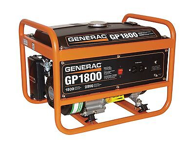Generac 5981 GP1800 2050-Watt 163cc OHV Portable Gas Powered Generator New