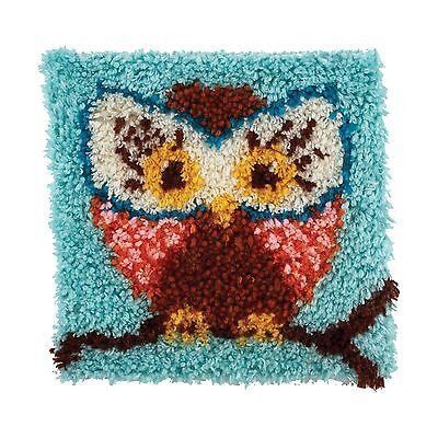 "WonderArt 426112 Latch Hook Kit 12"" X 12"" Hoot New"