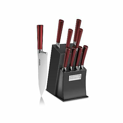 CUISINART 11-Piece Vetrano Collection Cutlery Knife Block Set Red/Black New