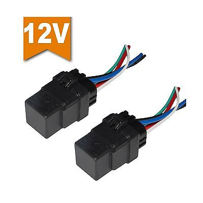 Ehdis [2 Pack] Car Automotive Truck Boat 40 AMP Relay Harness 12V 40A SPD... New