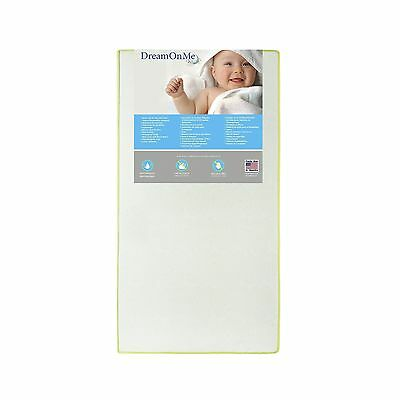 Dream On Me 2 in 1 Foam Core Crib and Toddler Bed Mattress Little Butterf... New