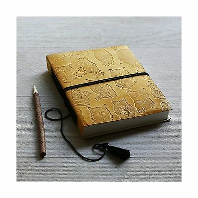 Mothers Day Gift Leather Journal Travel Diary Owl Designed Personal Organ... New