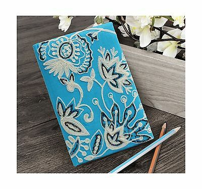 Store Indya Travel Diary (7x5) with Fabric Cover Hand Embroidered Designe... New