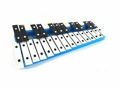 27 Key Chromatic Glockenspiel Xylophone in Blue - With Notes Engraved Int... New