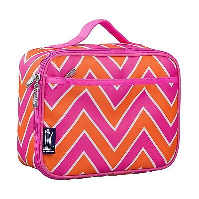 Wildkin Lunch Box Zigzag Pink New