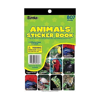 Paper Magic 609530 Eureka Animals Sticker Book New