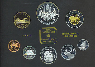 2000 Canada Voyage of Discovery Sterling Silver 8 Coins Proof Set with COA