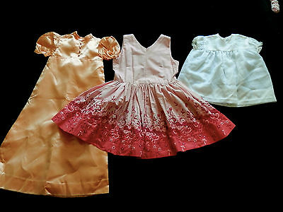Job Lot Vintage Dresses Childrens X 3 50S & 60S
