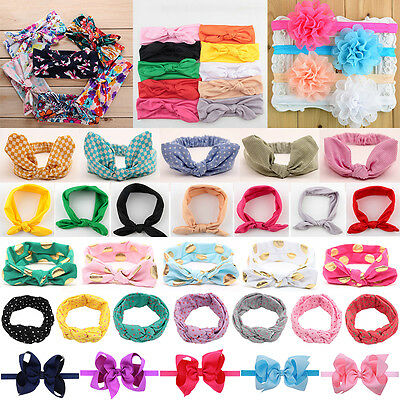 5/8/10pcs LOT Baby Girl Bow Knot Hairband Headband Kid Headwrap Hair Accessories