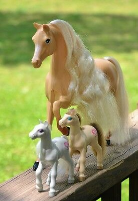 Barbie Horse Lot Of 3! Rare And In Excellent Condition! Collection Or Play_Lqqk!