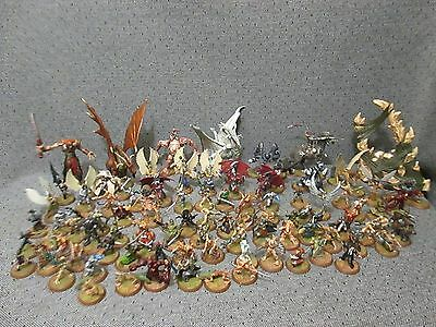 Huge Lot Of 94 Heroscape Game Figures/dragons/heroes W/cards
