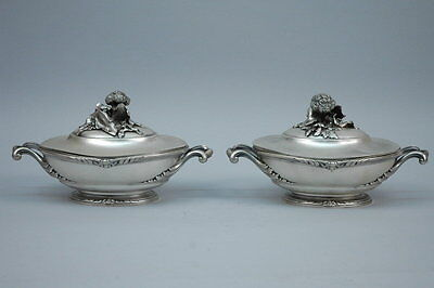 Belle Epoque Serving Dishes - Covered Vegetable - French 950 Silver