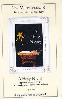 Sew Many Seasons  punch neeedle embroidery pattern O Holy Night