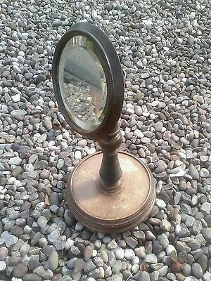 .Mirror  WOW A Antique Toilet /Bedroom mirror on stand Brass adjuster etv
