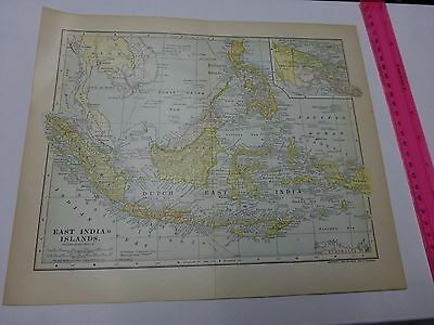 1903 Map of East India Islands with New Guinea