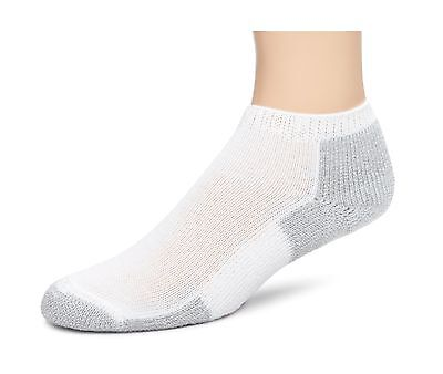 Thorlo Men's Socks Running Micro Mini Crew Sock White/Platinum 11 New