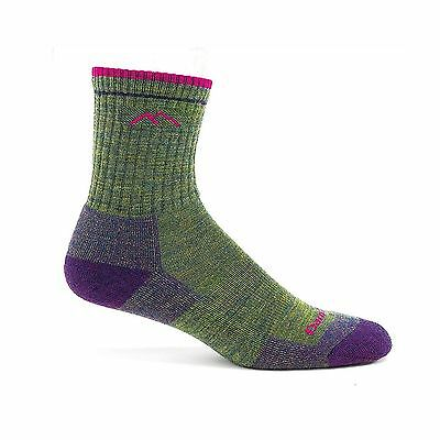 Darn Tough Vermont Women's Merino Wool Micro Crew Cushion Socks Moss Heat... New