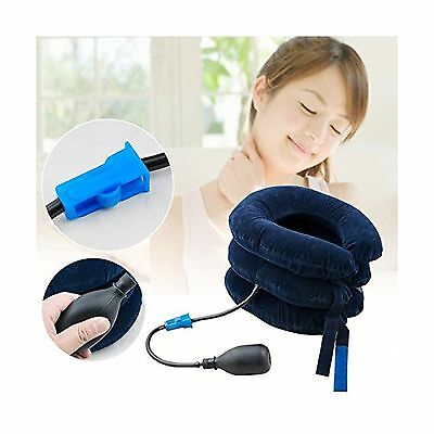 Icarekit Inflatable Cervical Neck Back Traction Device Air Inflatable Pil... New