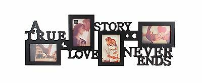 Kiera Grace Collage Picture Frame 10 by 30 Inch Black True Love New