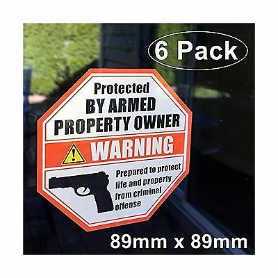 **Front Facing Self Adhesive Vinyl** (6 Pack) 89mm X 89mm PROTECTED BY AR... New