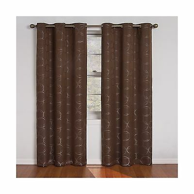Eclipse 42-Inch by 84-Inch Meridian Blackout Grommet Window Panel Chocolate New