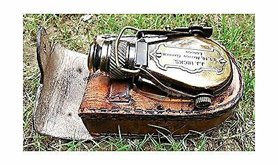 Antique Style Ships Pocket Monocular with Leather Box - Brass Pocket Tele... New