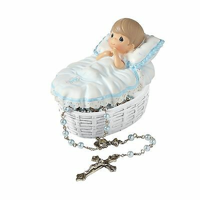 "Precious Moments 153407 Baptism Gift ""Baptized In His Name"" Resin Box wit... New"