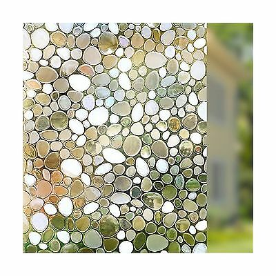 Rabbitgoo Privacy Window Film Decorative Window Film Static Cling Window ... New