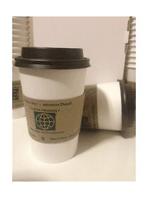 [50 Pcs Set-Made in Canada] 12oz Plain White Paper Coffee/Tea Cups with B... New