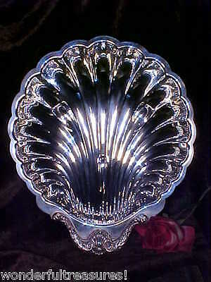 "GORGEOUS HUGE 16D"" English Silver Mfg Corp Shell Bowl Platter ORNATE DESIGN USA!"
