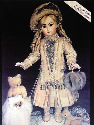 "29""antique French Jumeau Doll Beaded Dress Skirt Jacket Hat Stocking Pattern"