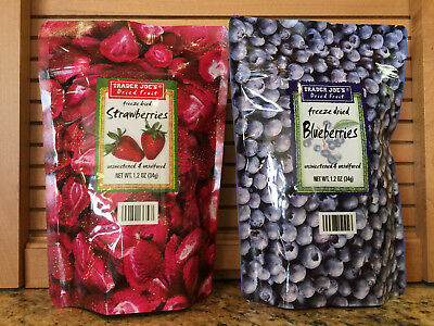 Trader Joe's Freeze Dried Strawberries and Freeze Dried Blueberries! Ships fast!