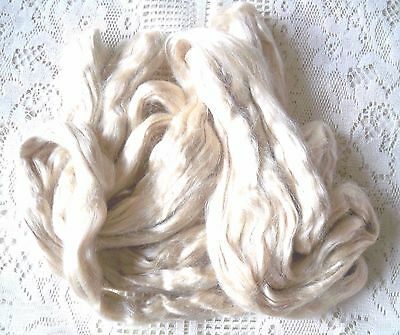 Tussah Silk  Tops Roving for Spinning or Felting  approx 50 grams