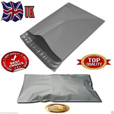 100 Mixed STRONG POLY MAILING POSTAGE POSTAL BAGS QUALITY SELF SEAL GREY PLASTIC