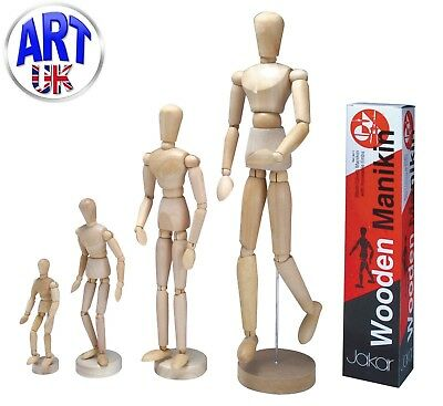 Jakar Wooden Manikin Mannequin Moveable Adjustable Limbs Human Hand Male