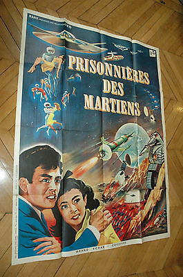 The Mysterians 1957 French 1P '57 Original Vintage Theatrical Folded Sci-Fi