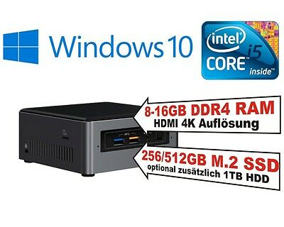 Intel® NUC PC i5 8259U CPU, 8-16GB RAM, HDD oder SSD, Windows 10 Home oder Pro