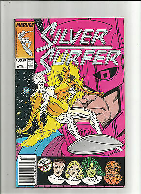 Silver Surfer #1 (Marvel 1987 2nd Series) Thanos and Galactus, GOTG, Near Mint
