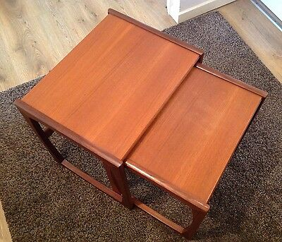 Vintage G Plan Wooden Tables For Restoration X 2 Set Of Two
