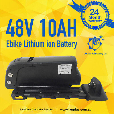 New Dolphin Shape 48V 10AH Lithium Battery With LG Cells 4 eBike 24-mth Warranty