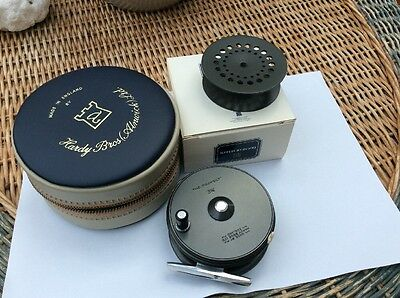 """Stunning Hardy Perfect Trout Fly Reel, 3 1/8"""" Diameter"""
