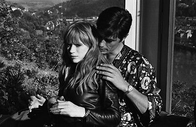 photo 10*15cm 4x6 INCH  MARIANNE FAITHFULL ET ALAIN DELON