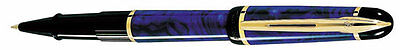 Waterman Phileas  Marble Blue &  Gold   Rollerball Pen  In Box  **