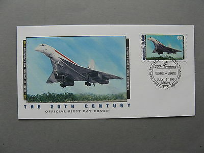 MARSHALL ISLANDS, cover FDC 1999, 20th century, aviation Concorde
