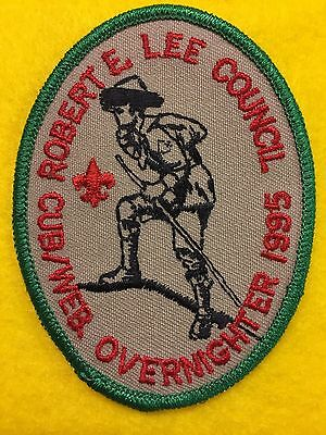 Boy Scouts-   1995 Robert E. Lee Council- Cub Scout / Webelos Overnighter patch