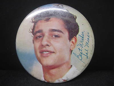"Actor Sal Mineo Pin-Back Button ""best Wishes Sal Mineo"""
