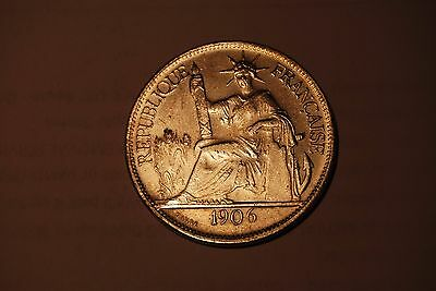 France French Indochina 1906 Piastre Fantasy Coin