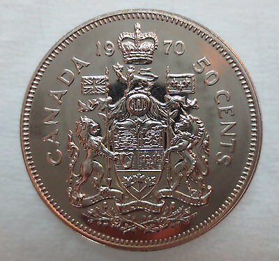 1970 Canada 50 Cents Proof-Like Coin