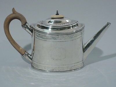 Georgian Teapot - Neoclassical - English Sterling - Bateman - 1796