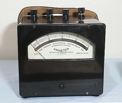 Vintage 1960's Hickok Ammeter 13M Alternating Current Amperes Analog AC  Meter